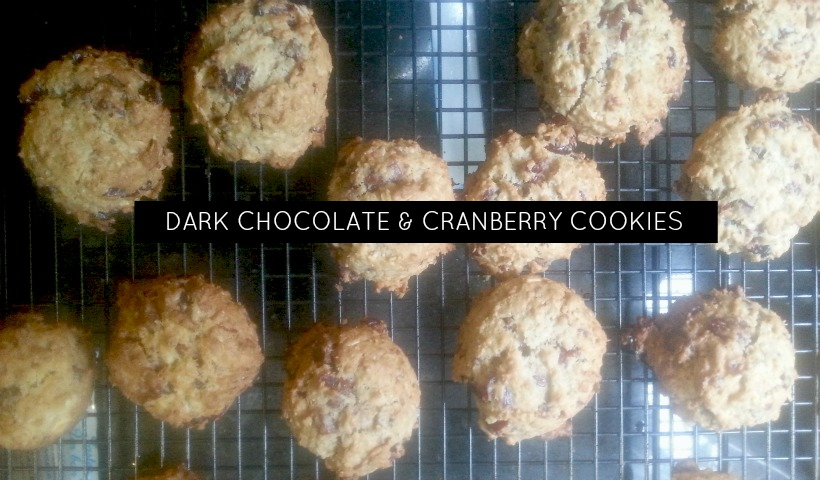 Dark Chocolate & Cranberry Cookies