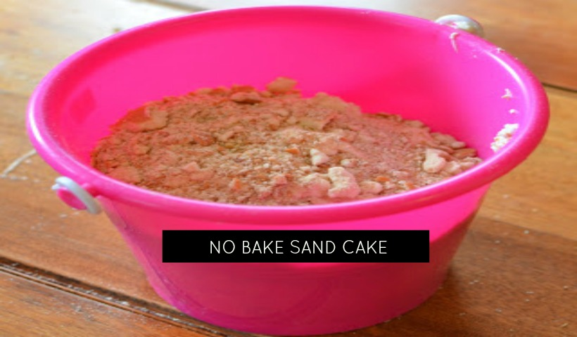 Cooking With Kids:  No Bake Sand Cake Recipe
