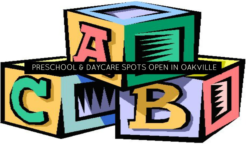 Oakville Preschools & Daycares With Spots Available