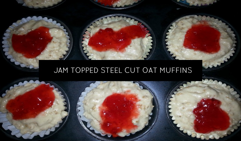 Jam Topped Steel Cut Oat Muffin Recipe