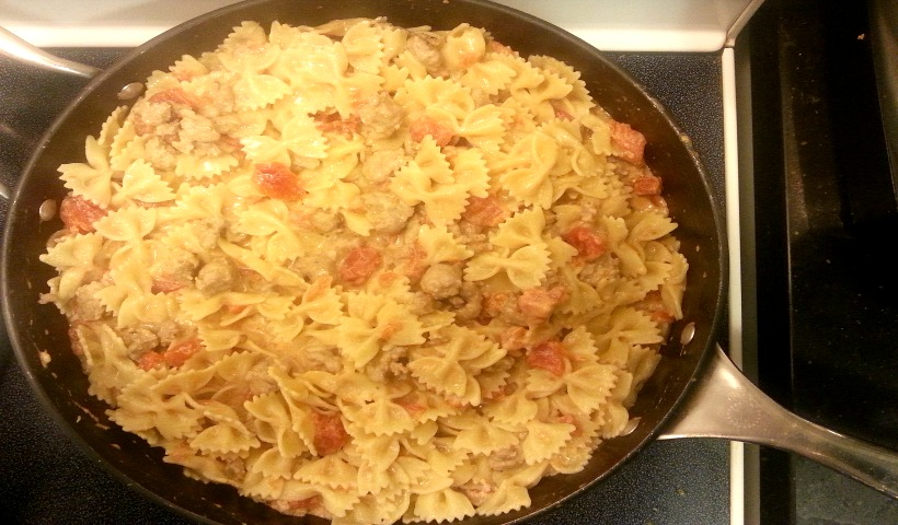 Creamy Bowtie Pasta With Sausage And Tomatoes