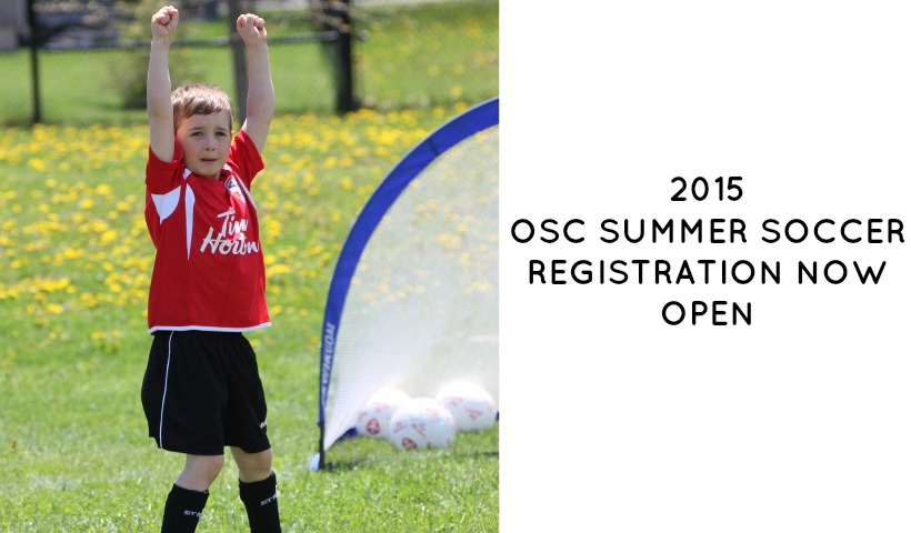 2015 OSC Summer Youth Soccer Registration Now Open!